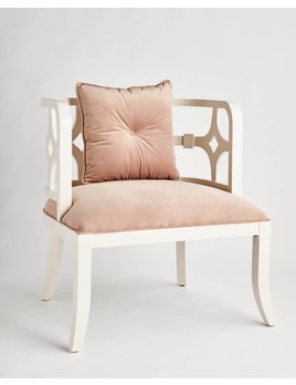SARITA FRETWORK CHAIR IN ROSE PINK VELVET