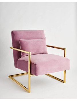 SEYMOUR CHAIR IN AMETHYST VELVET