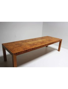 OLIVE BURL PARSONS DINING TABLE
