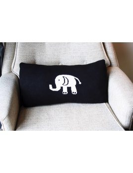 SCOUT LABEL ELEPHANT LUMBAR DOWN PILLOW 11x20
