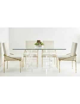 STACKED LUCITE DINING TABLE