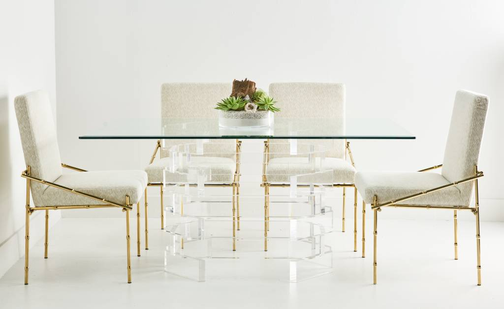 STACKED LUCITE DINING TABLE Scout Design Studio