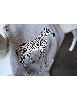 SCOUT LABEL ZEBRA BLANKET