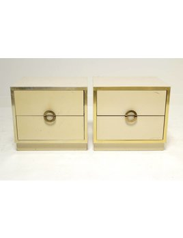 PAIR OF NIGHTSTANDS WITH RING PULLS