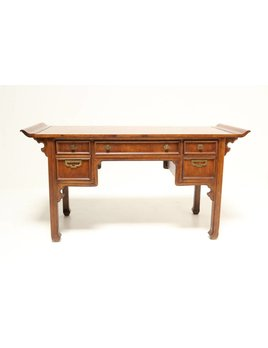ASIAN DESK WITH BRASS HARDWARE BY MYSTIQUE