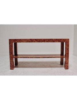 BURL CONSOLE TABLE