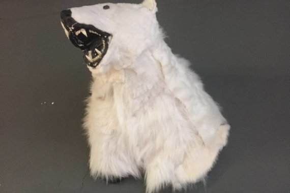 FAUX POLAR BEAR TAXIDERMY