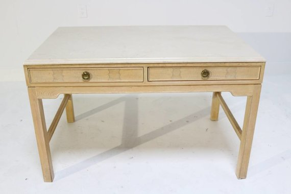 AMERICA OF MARTINSVILLE DESK WITH MARBLE TOP