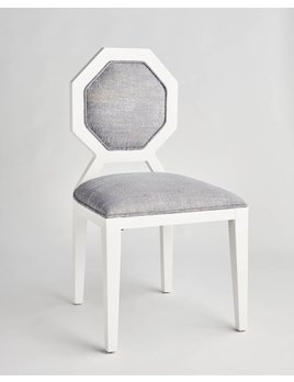 EDNA DINING CHAIR IN BLUE TWEED