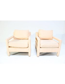 PAIR OF DIA PARSON LOUNGE CHAIRS