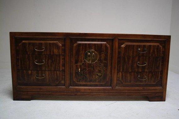 ASIAN DRESSER WITH BRASS MING HARDWARE