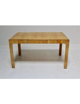 BURL DINING TABLE IN STYLE OF MILO BAUGHMAN