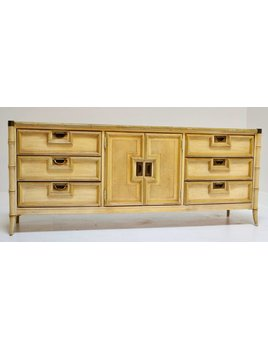 FAUX BAMBOO CREDENZA BY STANLEY