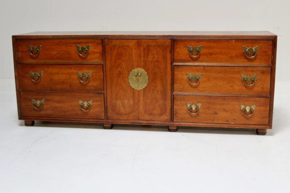 BUTTERFLY CAMPAIGN CREDENZA BY HENREDON