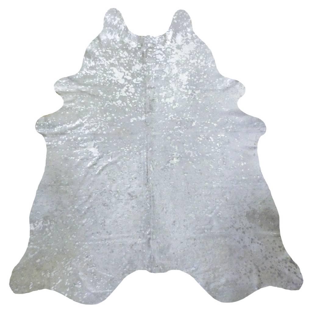 Acid Wash Grey And Silver Cow Hide Rug Scout Design Studio