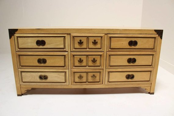 CENTURY CREDENZA WITH DOUBLE RING HARDWARE