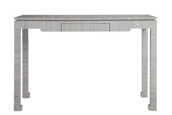 CIPHER CONSOLE TABLE WRAPPED IN BLUE ABACA