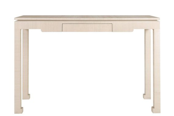 CIPHER CONSOLE TABLE WRAPPED IN NATURAL ABACA