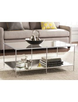 Mirrored Coffee Table - Chrome