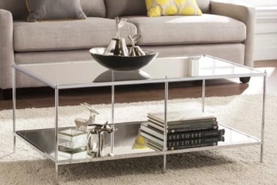 Mirrored Coffee Table - Chrome