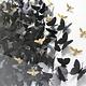 4 PANEL BUTTERFLY ART BY JEN LIN - BLACK