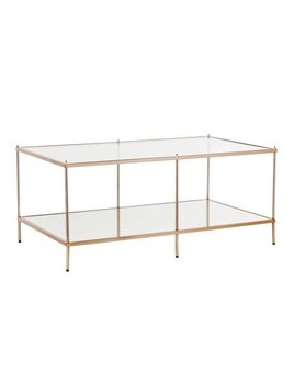 Mirrored Coffee Table - Goldtone