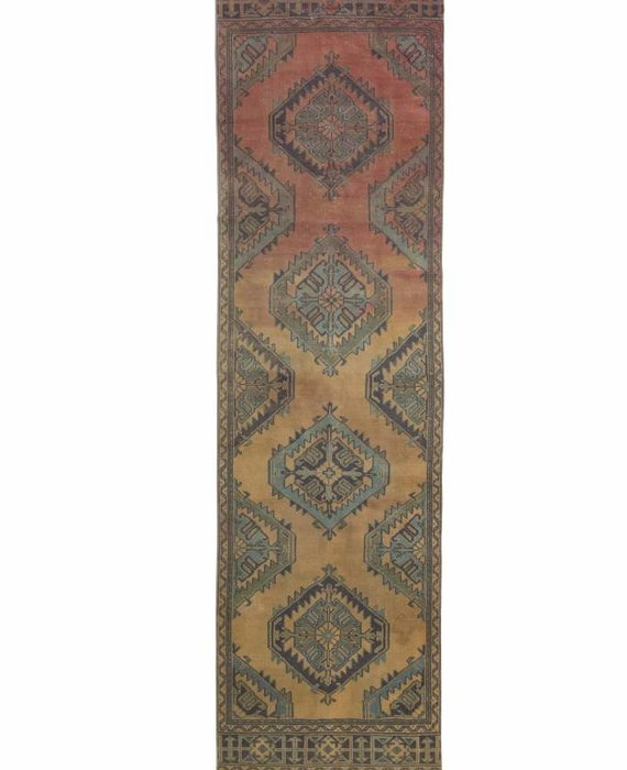 ZA-193 VINTAGE OMBRE TURKISH RUNNER RUG (3' x 11')