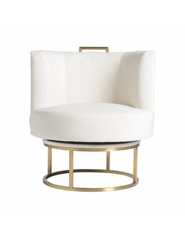 GUNTER SWIVEL CHAIR IN BRASS