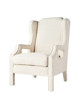 JULIANNE CHAIR IN WHITE TWEED LINEN