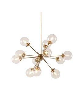 Gold 12-Light Sputnik Chandelier