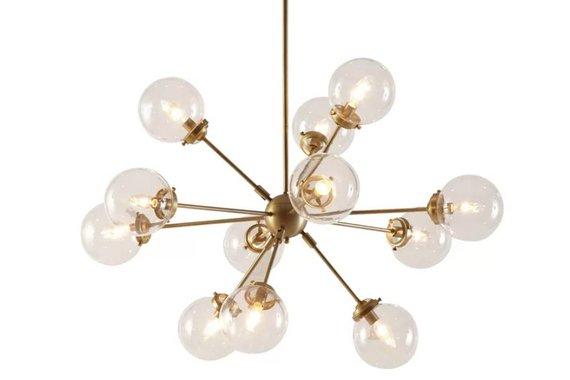 12-Light Sputnik Chandelier - Gold