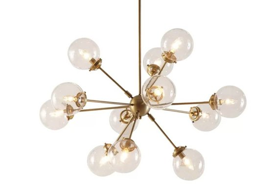 12-Light Sputnik Globe Chandelier in Gold Finish