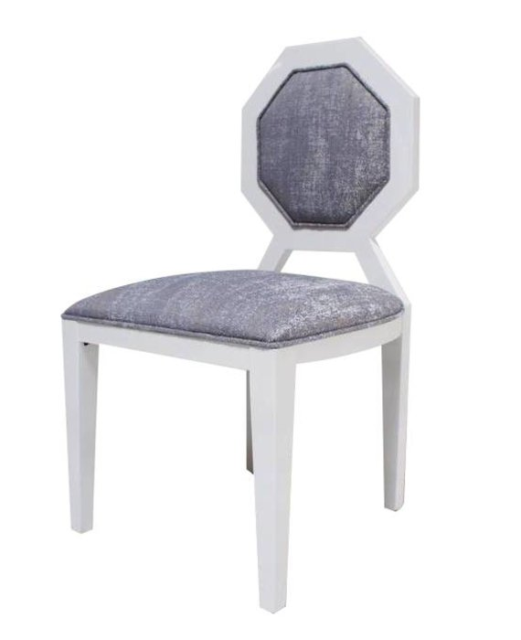 EDNA DINING CHAIR IN BLUE GREY TWEED