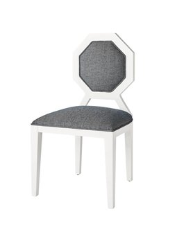 EDNA DINING CHAIR IN STEEL BLUE TWEED