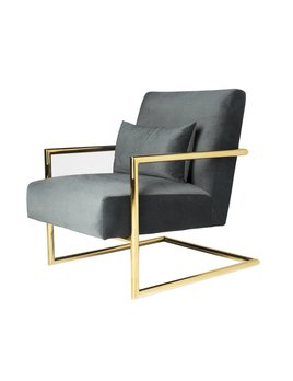 SEYMOUR CHAIR IN SMOKE GREY VELVET