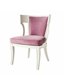 HUGHES CHAIR IN AMETHYST VELVET