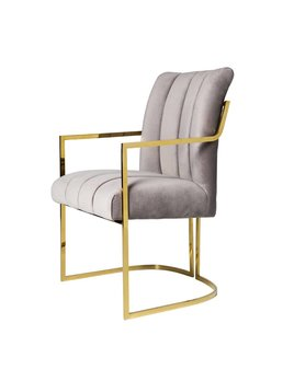 COMAL CHAIR IN PEWTER VELVET