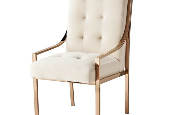MCCLAIN DINING CHAIR IN ROSE GOLD