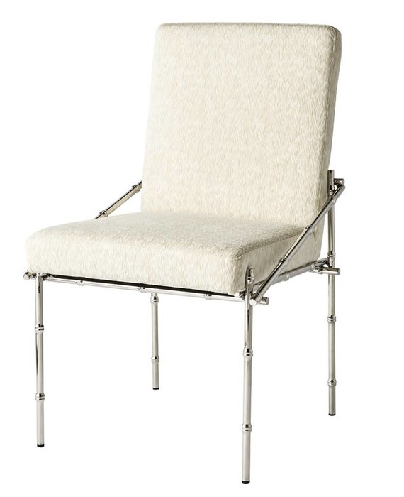 BLANCHE CHAIR IN POLISHED SILVER