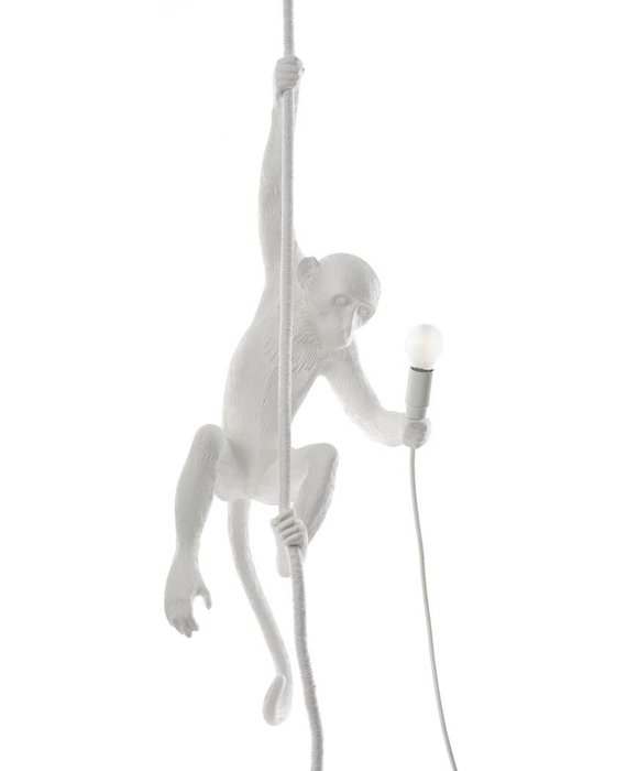 RESIN MONKEY LAMP - CEILING WHITE BY SELETTI