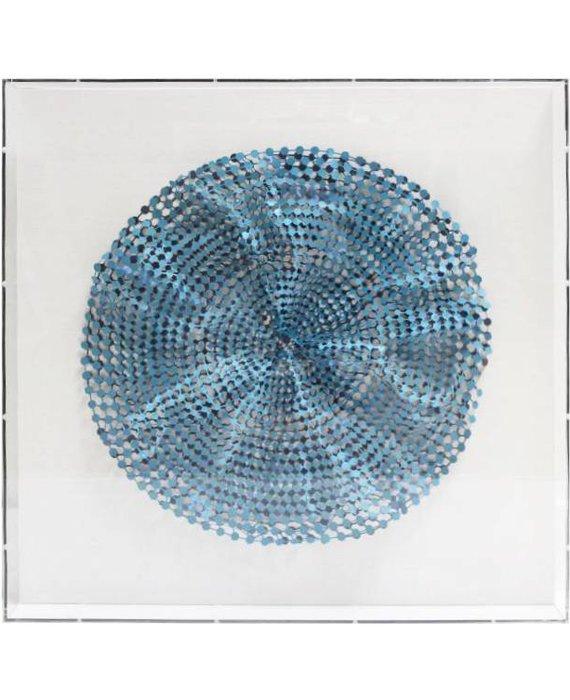 JEN LIN BLUE CIRCULAR PAPER ART