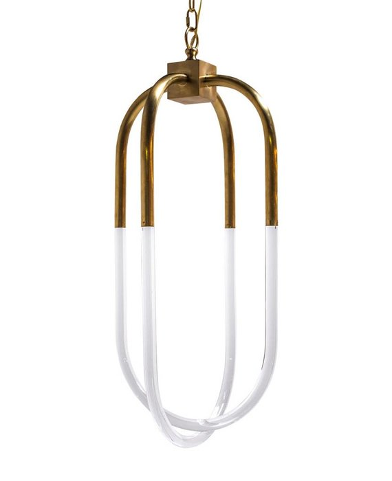 LARGE AMHERST PENDANT ANTIQUE BRASS