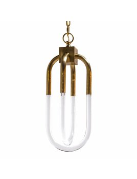 SMALL AMHERST PENDANT IN ANTIQUE BRASS