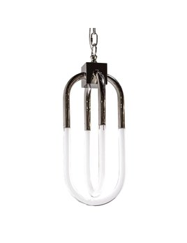SMALL AMHERST PENDANT IN POLISHED NICKEL