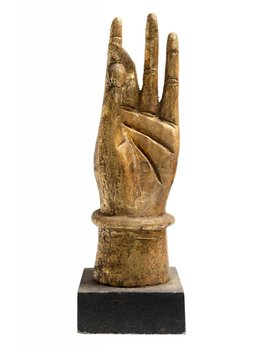 CARVED WOOD HAND