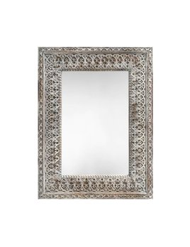 JODHPURIAN CARVED WOOD MIRROR