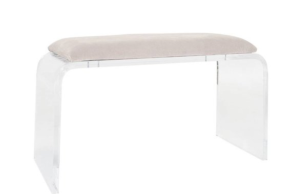 ALLANE WATERFALL BENCH IN MINK VELVET