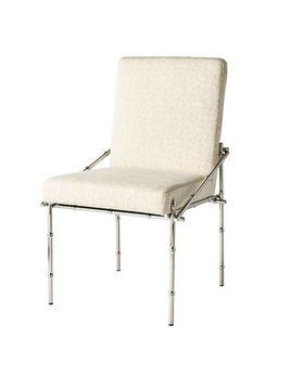 BLANCHE DINING CHAIR IN POLISHED SILVER