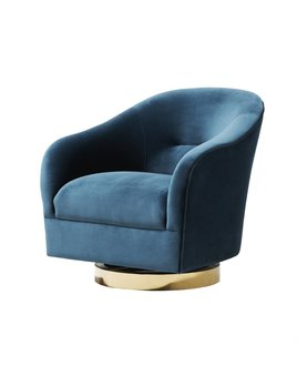 MAYES SWIVEL CHAIR IN SPRUCE VELVET