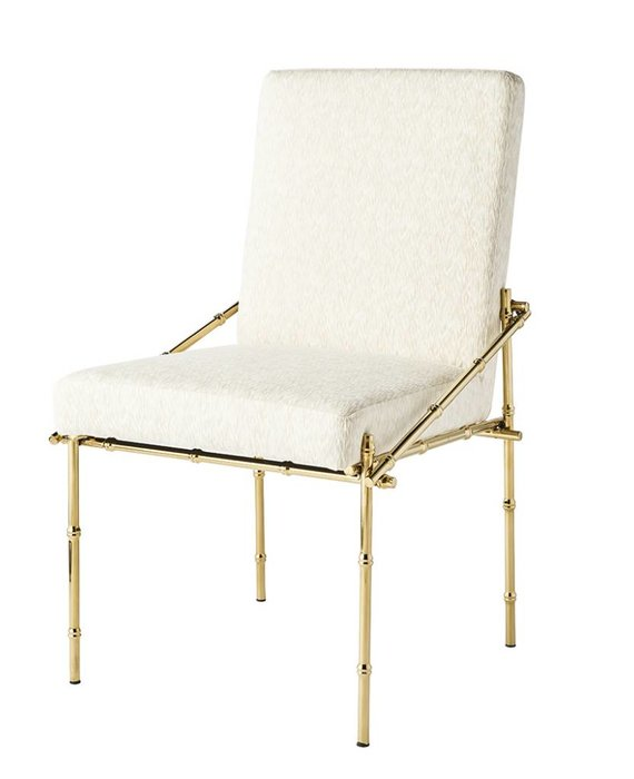 BLANCHE DINING CHAIR IN CHAMPAGNE BRASS